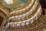 Manaus Opera House Ballroom  Ceiling and Balcony  Amazon  Brazil