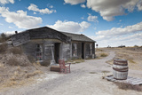 Homesteader Sod House Exterior  Cactus Flat  South Dakota  USA