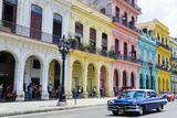 Pastel Buildings Near City Center  Havana  Cuba