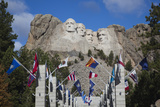 Mount Rushmore National Memorial  Avenue of Flags  South Dakota  USA