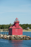North Pierhead Lighthouse  Sturgeon Bay  Door County  Wisconsin  USA
