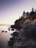 Bass Harbor Head Lighthouse at Dusk  Mount Desert Island  Maine  USA