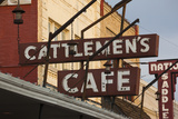 Cattlemen's Cafe Restaurant Sign  Oklahoma City  Oklahoma  USA