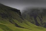 Misty Mountainside Landscape  Iceland