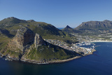 Aerial View of the Sentinel and Hout Bay  Cape Town  South Africa