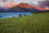 St Mary Lake at Sunrise  Glacier National Park  Montana  USA