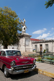 1957 Chevy Car Parked Downtown  Mantanzas  Cuba