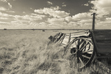 Old Wagon  Prairie Homestead  Cactus Flat  South Dakota  USA