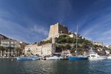 Port and Citadel at Morning  Bonifacio  Corsica  France