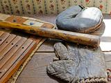 Old Baseball Gear  John C Flanagan House Museum  Peoria  Illinois  USA
