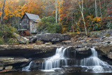 Grist Mill on Glade Creek at Babcock State Park  West Virginia  USA