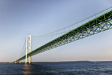 Sailing under the Mackinac Bridge in Mackinac Island  Michigan  USA