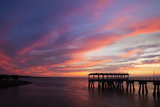 Fishing Pier at Sunset  Jekyll Island  Georgia  USA