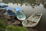 Boats Line the Shore of La Antigua River  Veracruz  Mexico