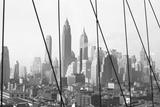 Lower Manhattan Skyline from Brooklyn Bridge  1947  New York  USA