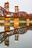 Railroad Bridge across the Atchafalaya River  Melville  Louisiana  USA
