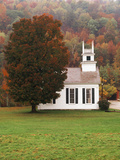 Chapel in Fall  West Arlington  Vermont  USA