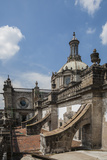 Buttresses of the Metropolitan Cathedral  Zocalo  Mexico City  Mexico