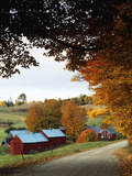 The Jenne Farm in Fall  Reading  Vermont  USA