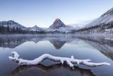 Winter at Pray Lake  Glacier National Park  Montana  USA