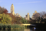 The Lake in Central Park  Manhattan  New York  USA