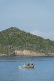 Colorful Fishing Boat Off the Coast of Buzios  Rio De Janeiro  Brazil