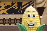 Corn Mascot at the Mitchell Corn Palace  South Dakota  USA