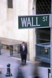 Wall Street Sign  Manhattan  New York  USA
