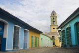 Cobblestone Street and Beautiful Church in City  Trinidad  Cuba