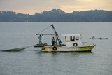 Early Morning Local Fishing Boat  Livingston  Rio Dulce  Guatemala