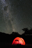 Hilleberg Tent under the Night Sky  Patagonia  Aysen  Chile