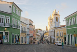 Colorful Buildings  'Whipping' Square  Pelourinho  Bahia  Brazil