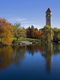 Clock Tower  Spokane River  Riverfront Park  Spokane  Washington  USA