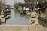 Stone Lion on Bridge  Zhujiajiao  Shanghai  China