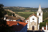 This Is the Church of Santa Maria in Obidos  Leiria  Portugal