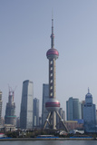 View from the Bund of the Modern Pudong Area  Shanghai  China