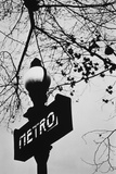 Sign for the Metro Subway  Paris  France
