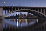 Third Ave  Bridge and Mill City  Stpaul  Minneapolis  Minnesota  USA