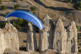 Paramotor in Cappadocia  Aerial  Central Anatolia  Turkey