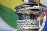Sailboat Winch with Coiled Rope  San Juan Islands  Washington  USA