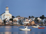Provincetown Harbor and Town  Cape  Cod  Massachusetts  USA