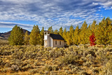 Old Church Along Hwy 395  Honey Lake  California  USA