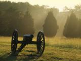 Cannon in Fog  Manassas National Battlefield Park  Virginia  USA
