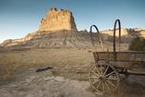 Pioneer Wagon Train Replica  Scottsbluff  Nebraska  USA