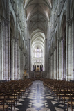 Notre Dame Cathedral Interior  Amiens  Somme  Picardy  France