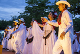 Dancers Entertain a Crowd  Central  Chiapa De Corzo  Chiapas  Mexico