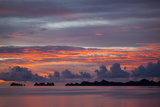 Beautiful Cloud Formations at Sunset in Republic of Palau  Micronesia