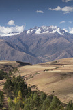 Nevado Del Chicon Mountains Above Sacred Valley  Peru