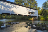 The Pengra Covered Bridge over Fall Creek in Lane County  Oregon  USA