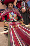 Woman Weaving at Backstrap Loom  Weaving Cooperative  Chinchero  Peru